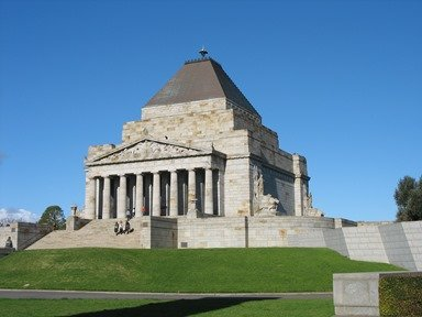 Shrine of Remembrance in Melbourne