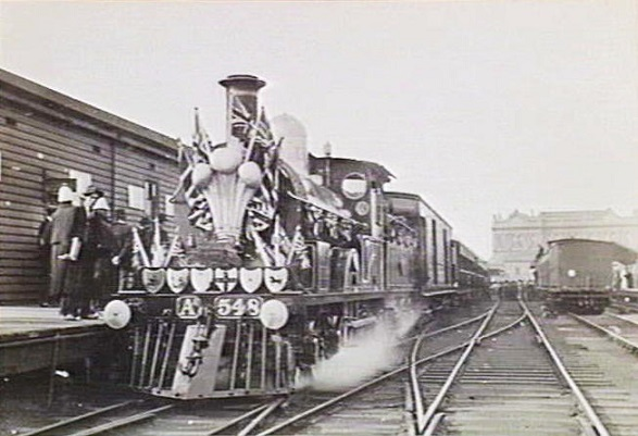 Decorated Royal Train