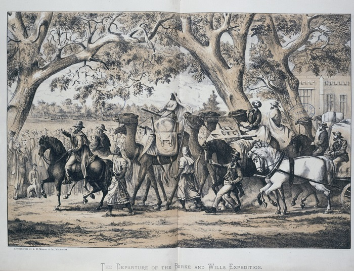 Burke and Wills Expedition leaving Royal Park