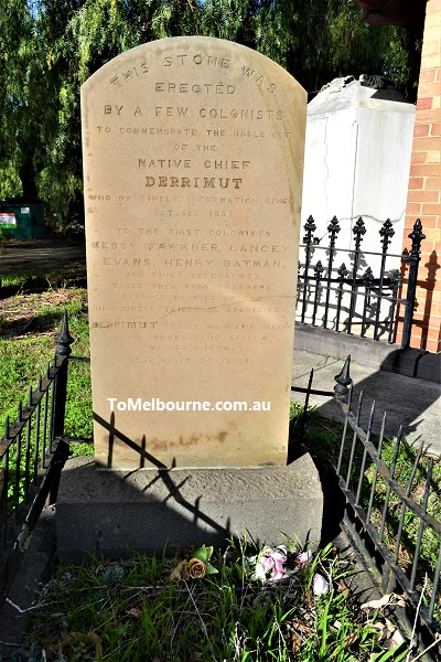 Derrimut's tombstone at Melbourne General Cemetery