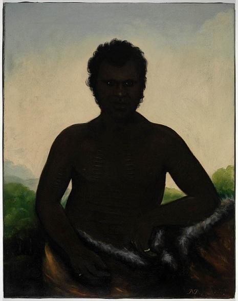 Chief Derah Mat [Derrimut] of Port Philip, 5 October 1836 / painted by Benjamin Duterrau