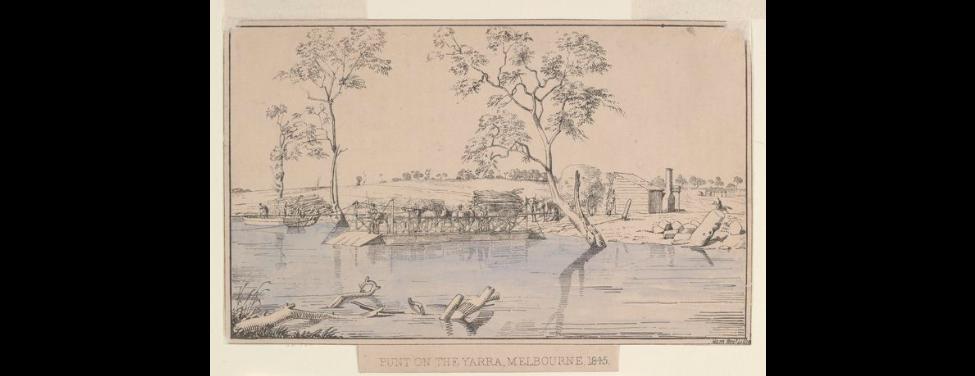First punt Yarra River