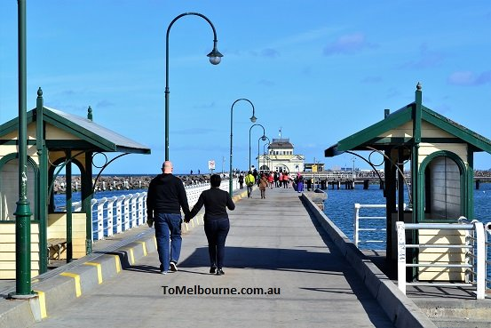 St Kilda Pier and the Kiosk
